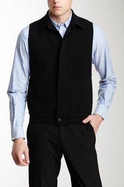 Emporio Armani Button Closure Wool Blend Waistcoat