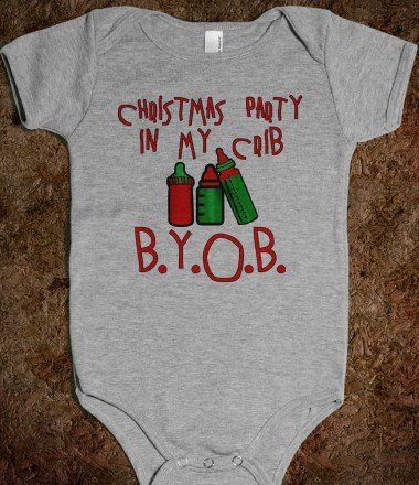 Cute baby onesie for Christmas