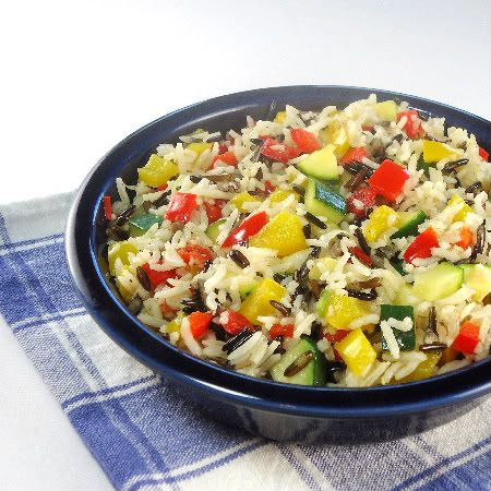 Tricolor Pepper and Wild Rice Salad