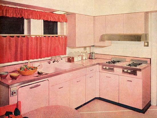 #vintage #pink #kitchen