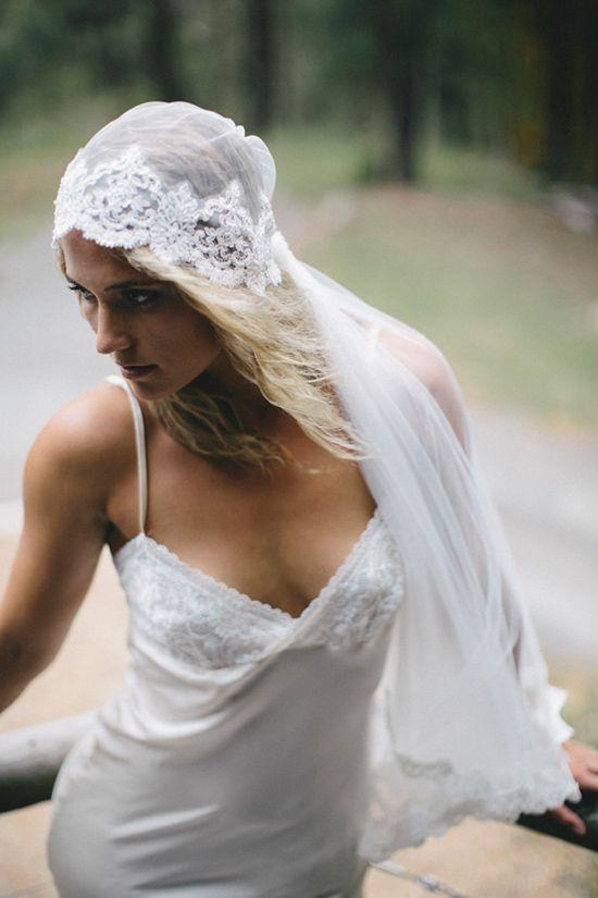 Vintage styled cap veil. Grace Loves Lace
