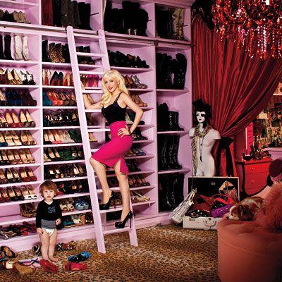 Christina's shoe closet