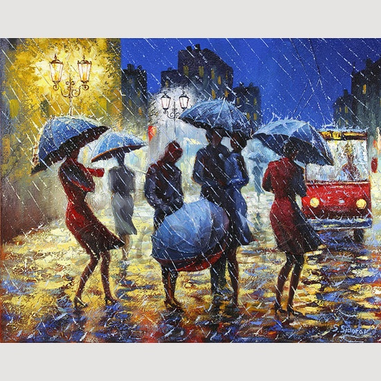 Giclee Print ON CANVAS from Original Oil Painting by Stanislav Sidorov...Etsy