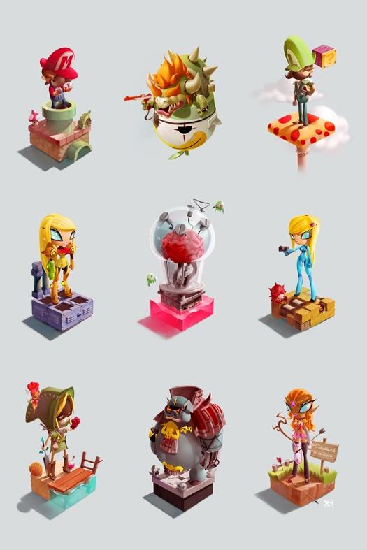 Cool character design. Super Mario Bros. www.geek-art.net/... #nintendo #artwork #character #design