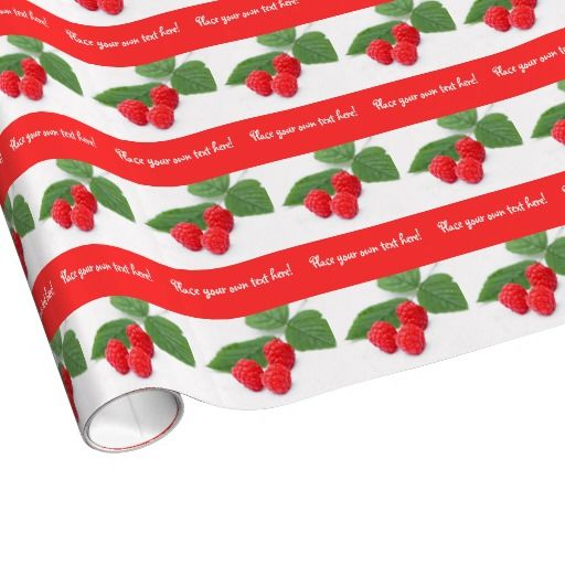 Personalised gift wrapping paper with fresh fruit
