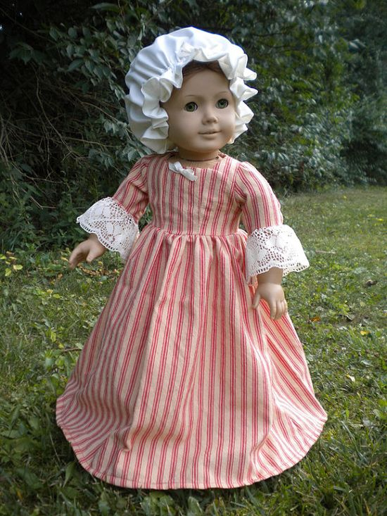 "Colonial Work Dress American Girl 18"" doll Felicity"