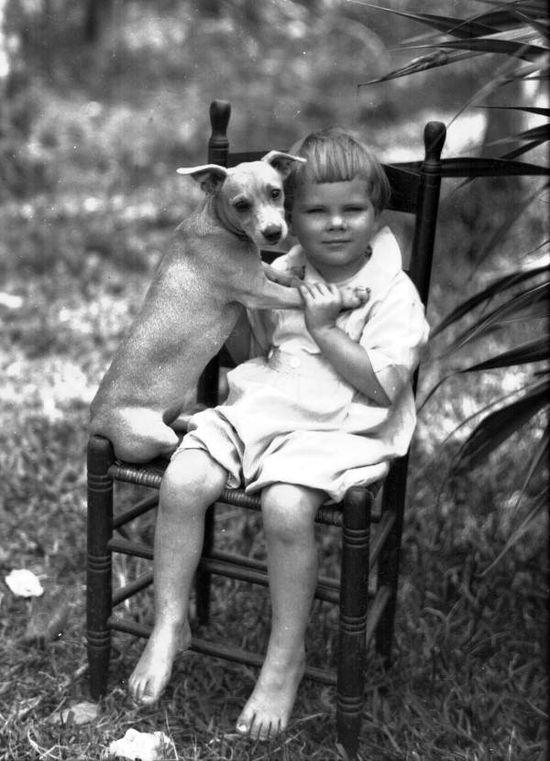 Child and dog, FL c 1920