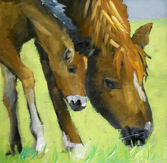 mama and baby horse, angela moulton