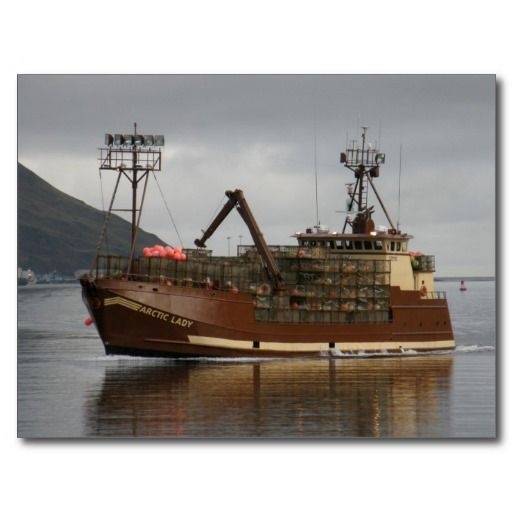 Arctic Lady, Crab Boat in Dutch Harbor, AK Post Card #travel #collectible #scrapbook