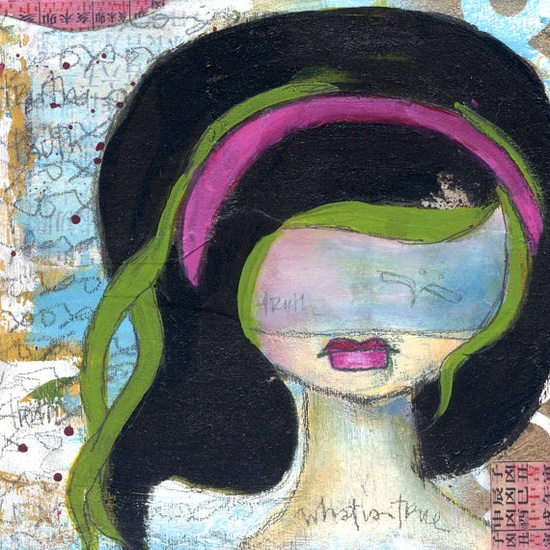 truth - a matted print.  original has sold.