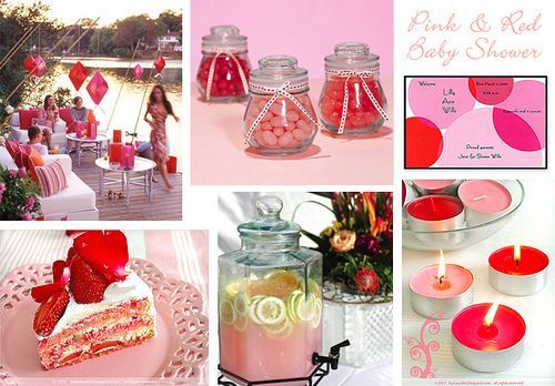 red & pink baby shower ideas