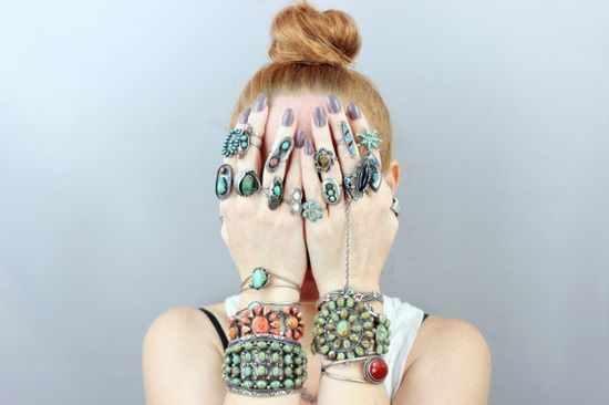 A covetable collection of vintage jewelry.