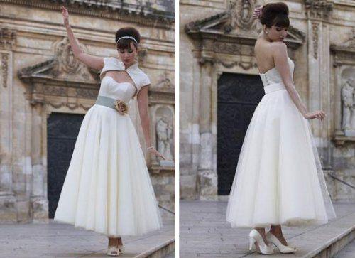 50's wedding dress.