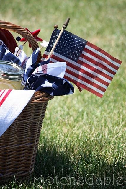 Patriotic basket.