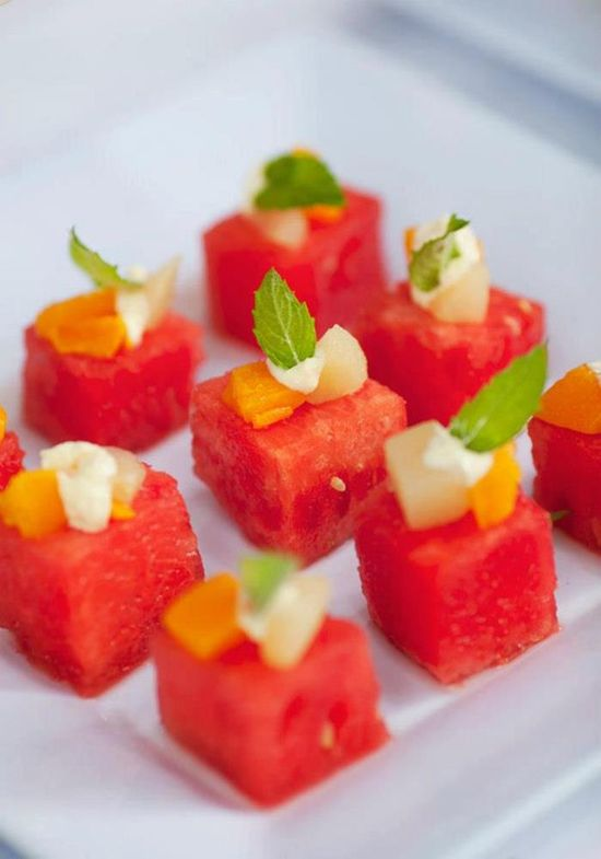 WATERMELON + MINT! This would be perfect for so many summertime parties! Found via Kara's Party Ideas