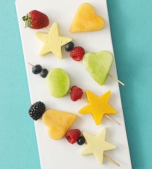Fruit and Cheese Kabobs - could use more fruits instead of cheese - or jicama