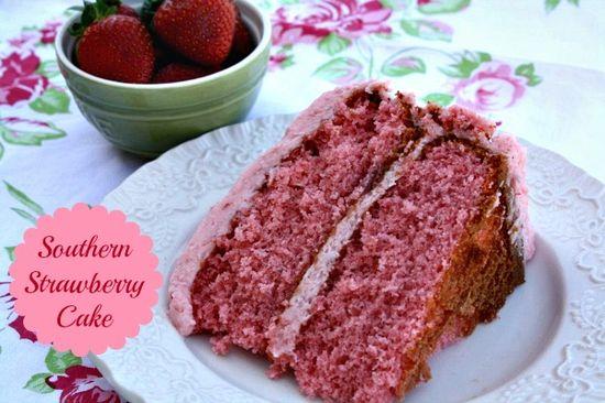 Southern Strawberry Cake
