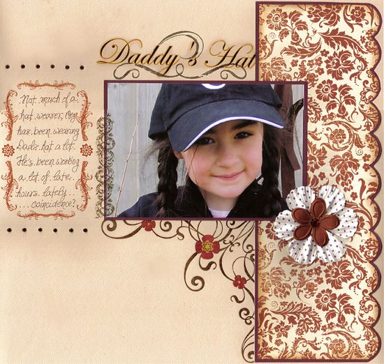 Layout: Daddy's Hat