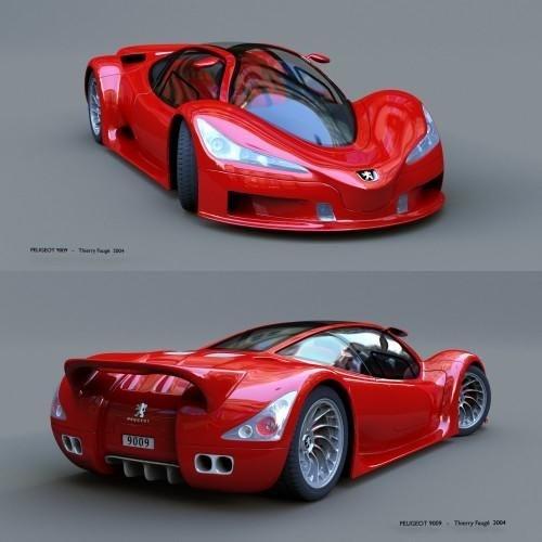 Peugeot style concept sports car