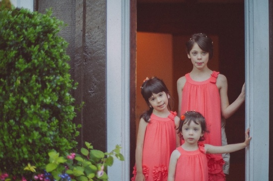 flower girls in pink & ruffles // photo by <a href='http://onelovephoto.com' target='_blank' rel='nofollow'>onelovephoto.com</a>