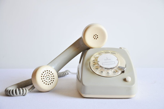 Vintage Grey Siemens Rotary Phone.