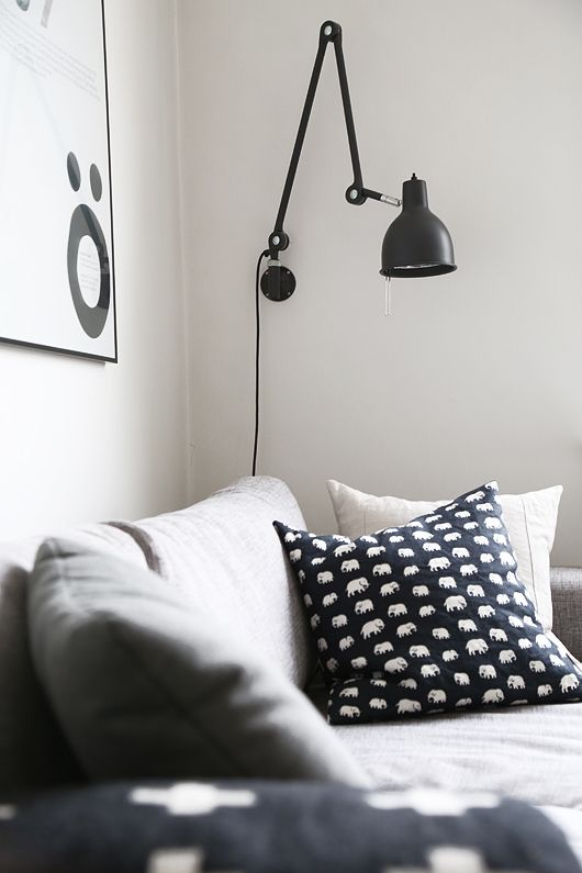 Living space: black and white