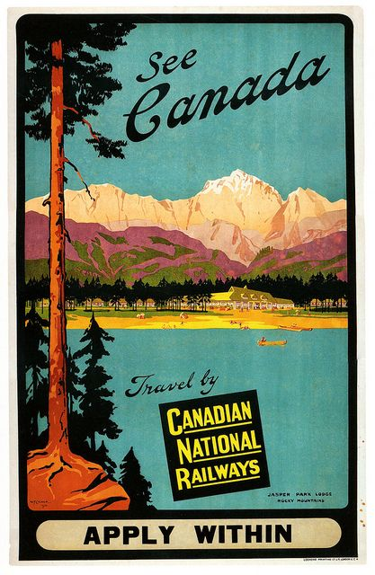 See Canada! #vintage #travel #Canada #CNR