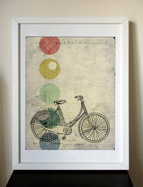 Bike & Colors via Poppytalk // onelittlebirdstudio