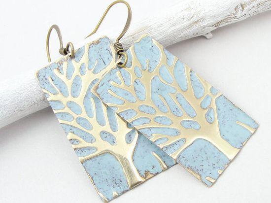Shabby Jewelry Winter Tree Earrings Winter by OstaraMoonJewelry, $24.95