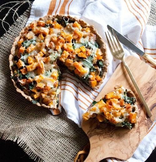 Butternut squash and kale tart? Yum!
