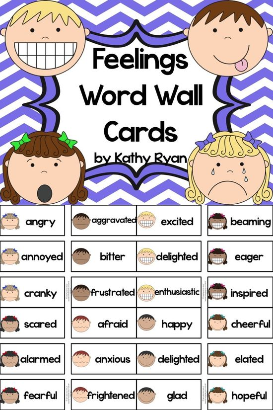 "$ Are you tired of the same boring feelings vocabulary your students are using in their stories and reading responses? Use these 70+ feelings vocabulary word cards to help your students move past ""happy,"" ""sad,"" and ""angry."" You'll be THRILLED you did!"