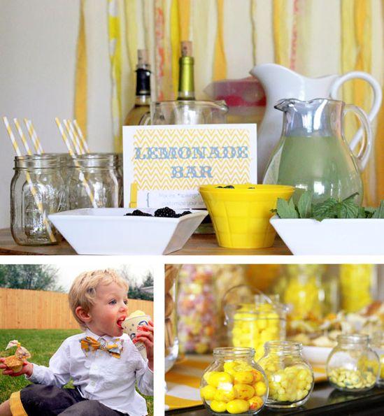 lemon yellow party