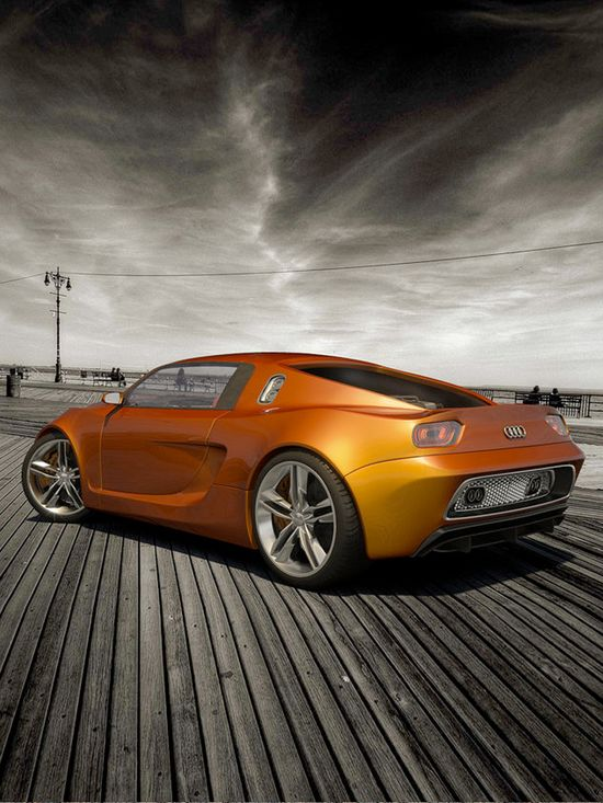 Orange concept car Audi OniX Concept by ~cipriany