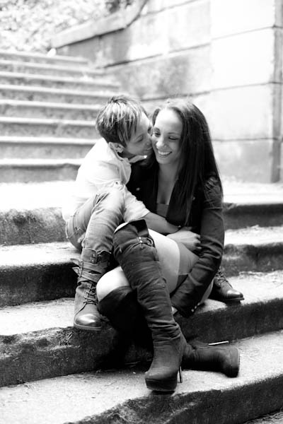 Engagement pose in black and white. #engagement #lesbian #queer #same sex #photography #black and white #Portraits To The People