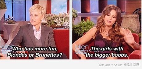 I LOVED this moment on Ellen. Hilarious!