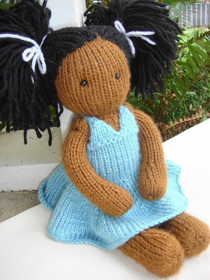 Party Dress Pattern: I've made a few Waldorf-style dolls before and this is a nice knit variation, especially with the flouncy dress..