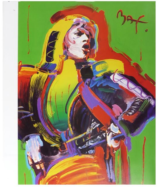Mick Jagger by Peter Max