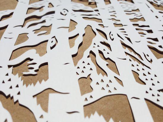 Woodland Papercuts: Bespoke Ketubot
