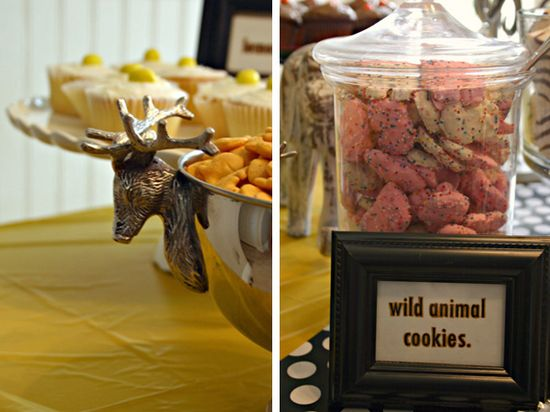 wild animal cookies, zebra cakes and cheetah chews....oh my!