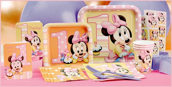 MINNIE MOUSE First Birthday Partyware #DisneyBabyPackNPin