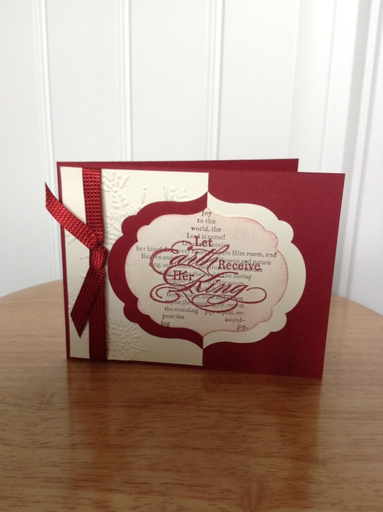 Stampin Up Christmas card  let earth receive her by treehouse05, $3.50