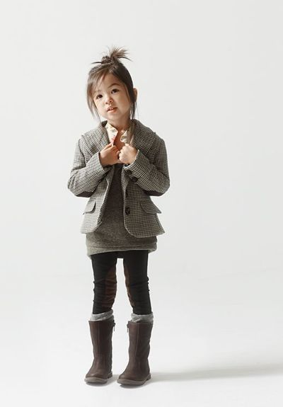 This little girl is better dressed than I may ever be!