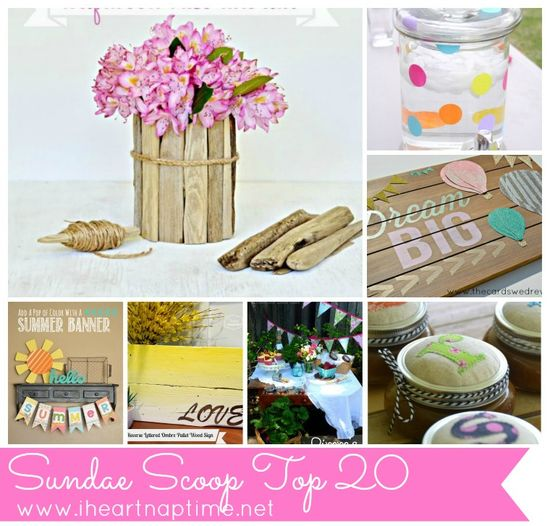This weeks top 20 craft projects on iheartnaptime.com