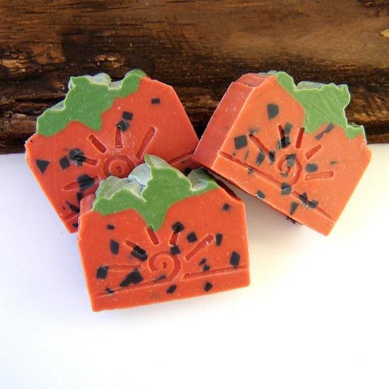 STRAWBERRY SHINE handmade soap