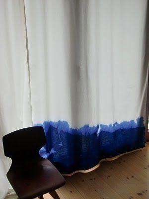 dip-dyed curtain #details #diy