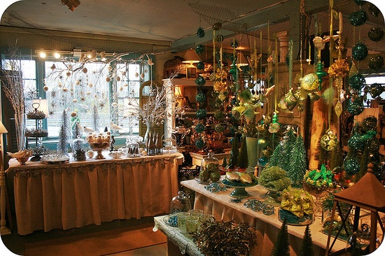 Hanging christmas ornaments as decor