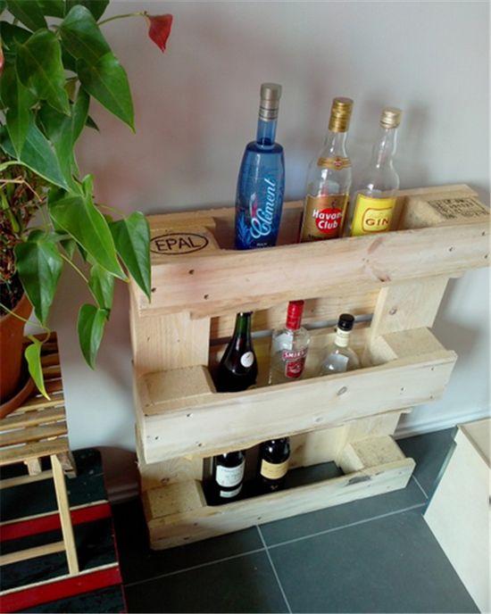 Bottle Rack from Pallets