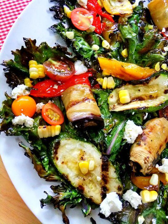 grilled kale salad
