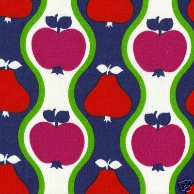 1960s Scandinavian Apples Fabric