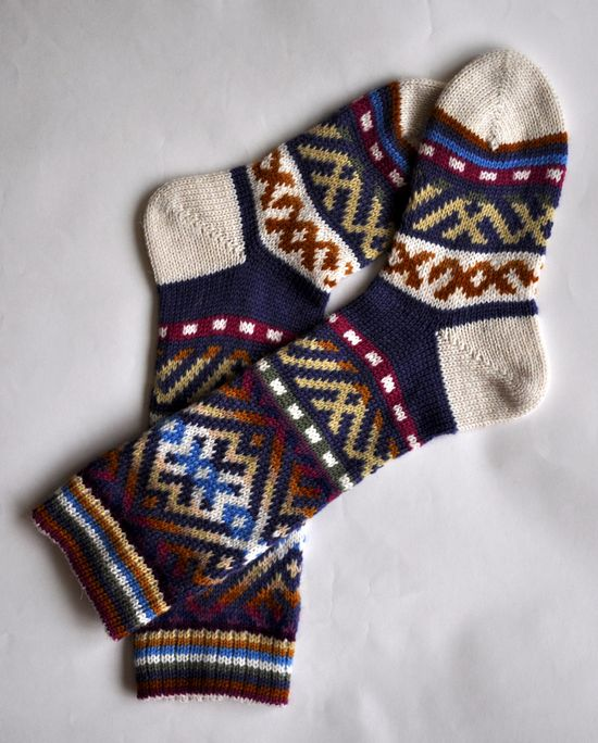 For the one with cold toes: extra thick hand knit socks. $50.00.